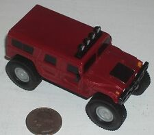 "Diecast Plastic Rich Red Hummer Monster Truck 3.5"" USED"