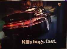 "Porsche""Kills bugs Fast"" Black Version Extremely Rare!First on ebay! Car Poster!"