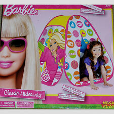BARBIE~CARS~CLASSIC HIDEAWAY~KIDS~BOY GIRL~TWIST TENT~EZ POP UP~PLAY IN/OUTDOOR