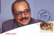INDIA 2013 FDC MAXIM CARD / PICTURE POST CARD OF UTPAL DUTT CINEMA THEME