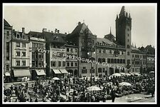 Antique Real Photo Postcard Marketplace Buildings Basel Switzerland Europe