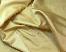 """Hand Dyed GOLDEN YELLOW - Silk/Cotton SATIN Fabric 45"""" by the yard"""