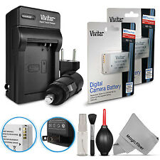 2 Vivitar NB-10L Battery + Charger Kit for Canon Powershot SX50 SX60 HS G3 X G16