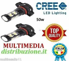 COPPIA LAMPADE H16 CANBUS 50W 12-24V  12 LED CREE 780 LUMEN  TOP QUALITY