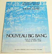 Partition sheet music JULIEN CLERC : Nouveau Big Bang * 80's VALLET