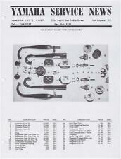 1963 Yamaha TD1A YDS2 Ascot Racer factory service notes, 12 pages of PHOTOCOPIES