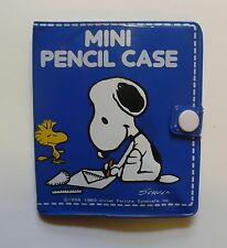 VINTAGE PEANUTS SNOOPY MINI PENCIL CASE W/ACCESSORIES BUTTERFLY ORIGINALS JAPAN