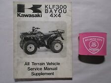 1989 KAWASAKI KLF300 BAYOU 4X4 ATV SERVICE MANUAL SUPPLEMENT 99924-1117-51