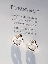 Tiffany & Co Sterling Silver Heart Link Stud Earrings