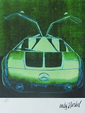 ANDY WARHOL MERCEDES C111 SIGNED & HAND NUMBERED 279/1000 LITHOGRAPH GULLWING