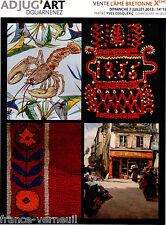 Catalogue Vente Peinture Bretonne bretagne traditionnelle faience Quimper