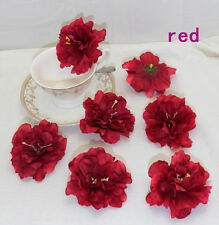 NEW 9cm NEW 3.5 Inch Artificial handmade Peony silk Flower Heads Red