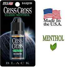 Criss Cross E Liquid E-Liquid Juice Vapor Vape USA - 10ML - Black Menthol Flavor