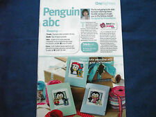 LOVABLE LITTLE PENGUIN ALPHABET TO GET IN THE CHRISTMAS MOOD CROSS STITCH CHART