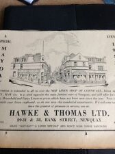 64-2 Ephemera 1953 Advert Hawke & Thomas Ltd Newquay Linen Shop Opens