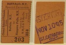 1945 Grand Island Special Excursion Ticket Buffalo NY -Niagara Falls NY NStC&TRy
