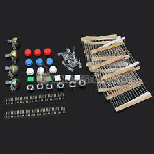 Electronic Parts Pack Component Resistors Switch Button Kit for Arduino New