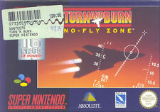 Super Nintendo SNES NES - TURN AND BURN - NO FLY ZONE - TOP !!!