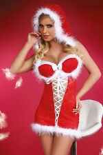Women's Sexy Christmas Snow Baby Hooded Dress Costume