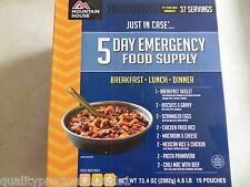 5 Day Emergency Food Suppply-Mountain Hous Freeze dried Food Pouches-37 Servings