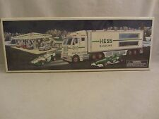 Hess   Toy Truck and Racecars  Real Head and Tail lights  NIB  (117)