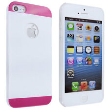 White with Pink Edges Back Cover Case for iPhone 5 / 5S