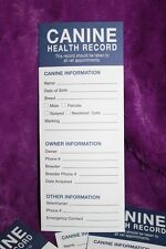 25 Canine Dog Puppy Health Record Vaccine Shot Folder Booklet Pamphlet