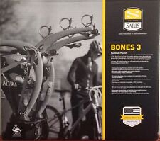 SARIS BONES 3 BIKE BICYCLE CAR TRUNK GRAY RACK CARRIER #801 NEW FREE SHIP