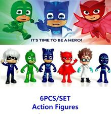 6 PCS/LOT PJ MASK SUPER PIGIAMINI PERSONAGGI ACTION FIGURE CATBOY GEKO OWLETTE