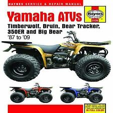 1987-2009 Yamaha Timberwolf, Big Bear 250/350/400 ATV Haynes Repair Manual 1138