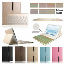 7 Color Backlit Bluetooth Keyboard Case Cover For Samsung Galaxy Tab S2 9.7 T815