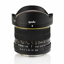 New Opteka 6.5mm f/3.5 HD Aspherical Fisheye Wide Angle Lens - Canon EOS Camera