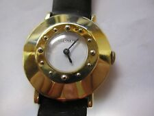Le Coultre vintage 1950s/1960s Analog Fashion 14k gold men's wrist watch