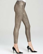 $242 NWT J BRAND 24 BLOOMINGDALES ALANA GOLD DUST METALLIC HIGH RISE CROP JEANS