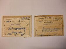Dokumente Konvolut Original Fahrkarten Reichsbahndirektion München 2. Wk 1944