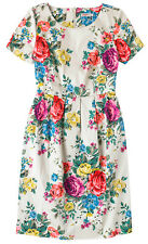 CATH KIDSTON HAMPSTEAD ROSE FLORAL SATEEN VINTAGE STYLE DRESS 12 RRP £75 - BNWT!