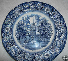 "Vintage Liberty Blue Independent Hall 9 3/4"" Dinner Plate Staffordshire England"