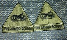 LOT OF 2 THE ARMOR SCHOOL Sew-On Patches
