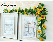 1pc 240cm Sunflower Artificial Silk Fake Flowers Ivy Leaf Garland Plants