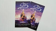 Billets Collector 2 Parcs 25me Anniversaire Disneyland Paris Cast Member