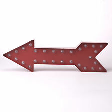 Glitzhome Marquee LED Red Arrow Lighted Sign Wall Decor Red
