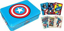 Playing Card - Marvel - Captain America metal box Poker Licensed Toys 104045