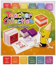 Teacher stamps x 6 self inking stamps for kids Ideal for schools,nursery,Tuition