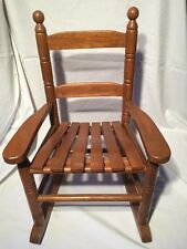Small Vintage Wooden Rocking Chair For Large Doll/Teddy Display (ref W255)