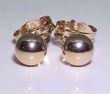 A FINE PAIR OF 9CT ROSE RED GOLD 4mm BALL BEAD  STUD EARRINGS