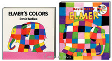 Elmer and Elmer's Colors (Bob) by David McKee power of laughter 2 Board Book Set