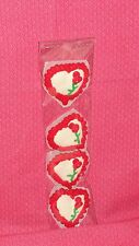 Heart Edible Cupcake Toppers,Valentines,Royal Icing, 1 1/2 in.DecoPac