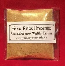 GOLD RITUAL INCENSE • ATRACTS FORTUNE • WEALTH • BUSINESS 20gr.