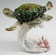 MELVIN   Green Sea Turtle    Statue figurine  H5""