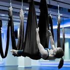 Inversion Therapy Anti-Gravity Aerial Traction Yoga Swing Hammock Dark Black US